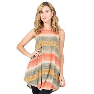 🌻Ombre Round Kneck Sleevless Pocket Tunic🌻